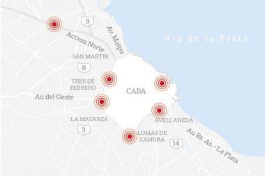 Mapa de cortes; paro general; paro nacional; miércoles 29 de mayo de 2019