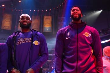 LeBron James y Anthony Davis, la armada de los Lakers