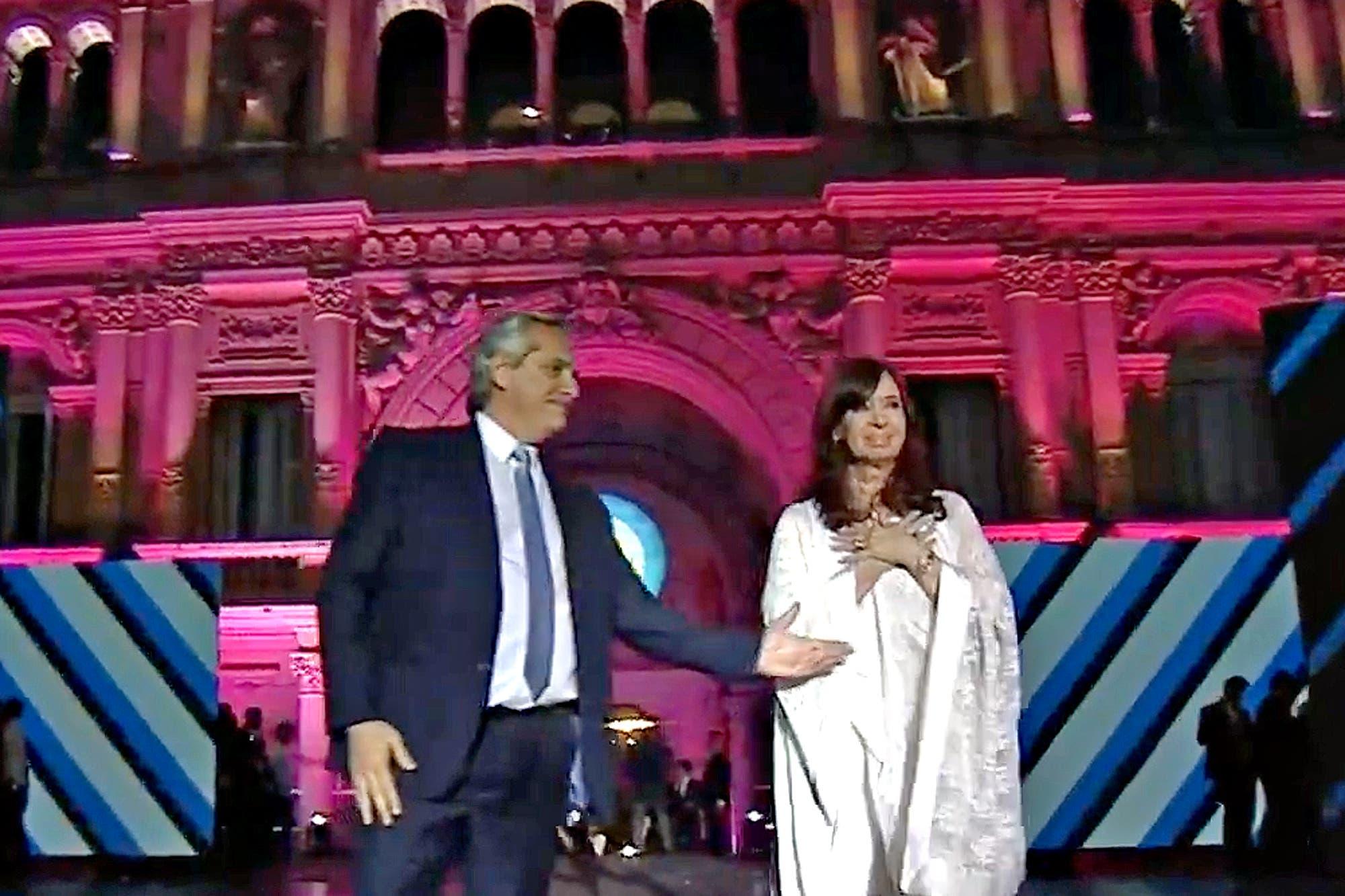 """""""Presidente, confíe siempre en su pueblo"""", y otras frases de los discursos de Cristina Kirchner y Alberto Fernández"""
