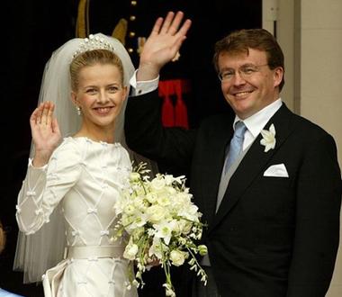 Johan Friso y Mabel Wisse Smit en el día de su casamiento.