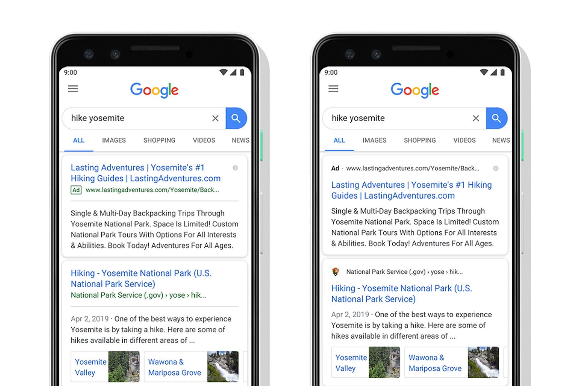Cambios en Google: ahora los avisos son más parecidos a los resultados de la consulta web
