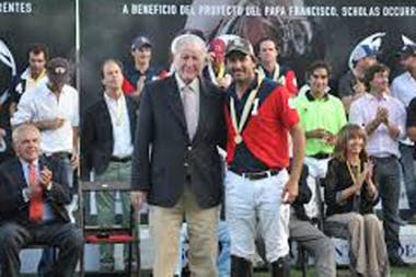 Los cracks de todos los tiempos: Juancarlitos Harriott con Adolfo Cambiaso; los únicos polistas que ganaron el Olimpia de Oro