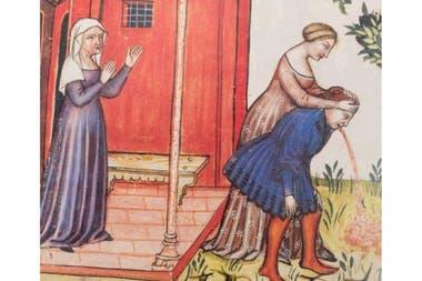 Miniatura del Tacuinum Sanitatis, un manual de medicina de la Edad Media