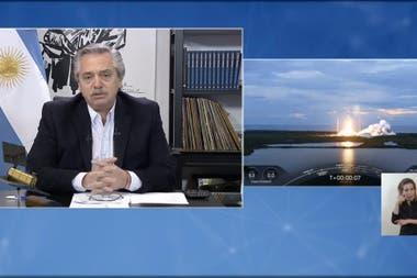 Alberto Fernández se refirió al exitoso lanzamiento del Saocom 1B