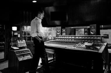 Rafa Arcaute, en el estudio