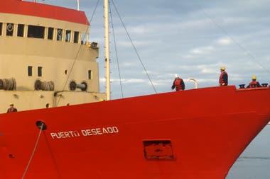 Algunas de las campañas se hicieron con el Puerto Deseado, el buque oceanográfico del Conicet