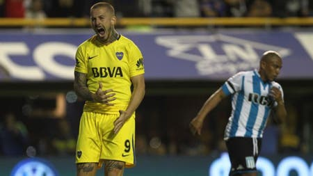 Boca-Racing, Superliga: empatan 1-1