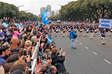 El 10 de julio de 2016 se realizó un desfile militar en avenida del Libertador