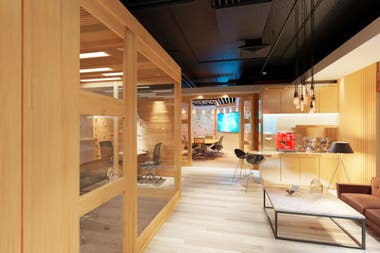 El Sheraton Studio Arena: un estudio de televisión armado en uno de los salones del hotel