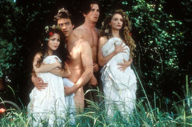 Una imagen del film Sueño de una noche de verano, que la actriz filmó en 1998