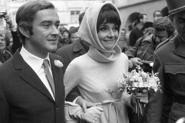Audrey Hepburn junto a su segundo marido, Andrea Dotti