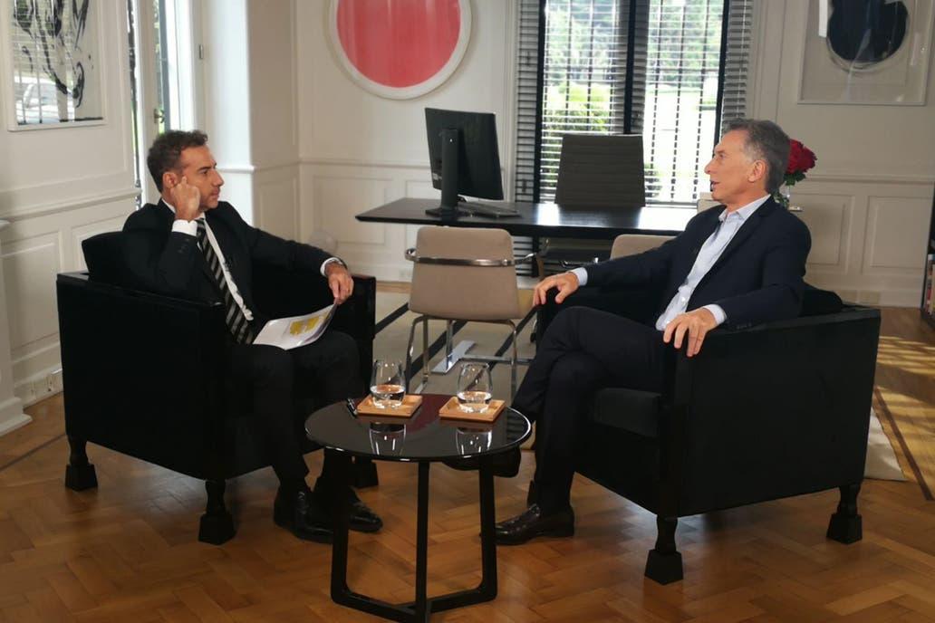 El presidente con Luis Majul, en La Cornisa