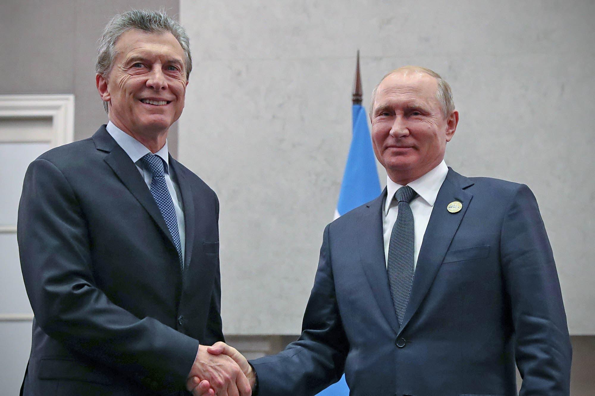 Putin le propuso a Macri un torneo en Rusia con selecciones latinoamericanas