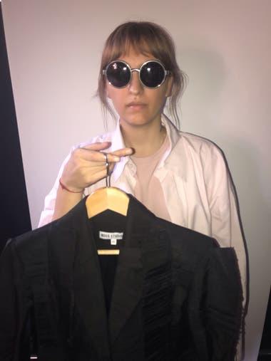 Romina Cardillo lista para mostrarse en la pasarela 080 Barcelona Fashion