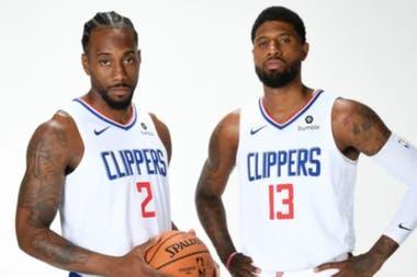 Kawhi Leonar y Paul George, de los Clippers