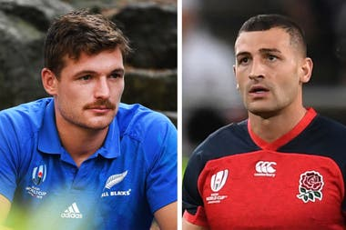 Duelo de wings: George Bridge, de los All Blacks, y Jonny May, de Inglaterra