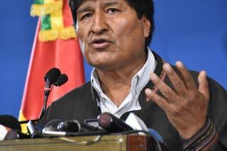 Evo Morales durante su discurso de renuncia a las 5 pm el 10 de noviembre.