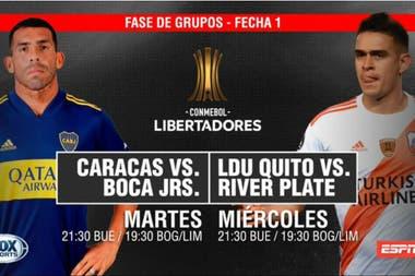 Cambia La Tv De La Copa Libertadores Espn Y Fox Sports Seran Las Dos Pantallas Del Torneo La Nacion