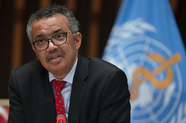 Tedros Adhanom Ghebreyesus, el director general de la OMS, anunció la suspensión de ensayos clínicos con la cloroquina y sus derivados