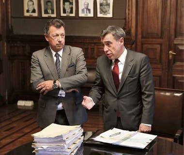 Los jueces Dalla Via y Corcuera, de la Cámara Nacional Electoral