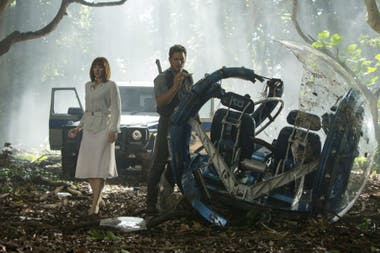 Bryce Dallas Howard y Chris Pratt en la fallida Jurassic World