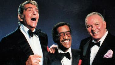 Sinatra con Dean Martin y Sammy Davis Jr en la gira Together Again