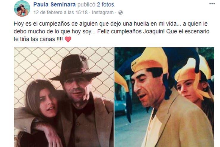 En febrero último, en el día del cumpleaños del músico, Paula recordó su romance con mucho cariño