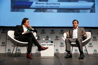 Quintana fue entrevistado por José Del Rio, secretario general de Redacción
