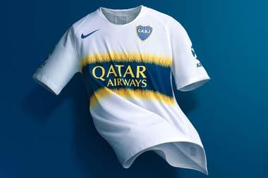 La nueva camiseta suplente de Boca