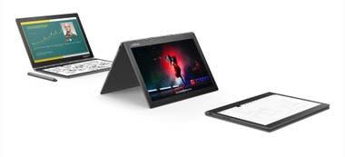 La Lenovo Yoga Book C930 es un equipo convertible, y puede ser usado como tableta; el teclado se puede ocultar para dibujar