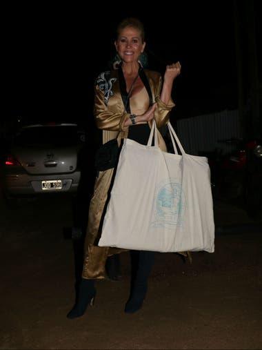 Barbie Simons, amiga incondicional de Pampita, no podía perderse el festejo
