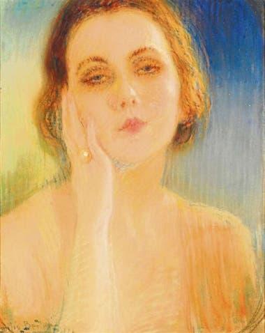 Emilia Bertolé. Autorretrato. La pintora y poeta rosarina será una de las artistas destacadas en el MNBA