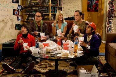 El elenco inicial de The Big Bang Theory