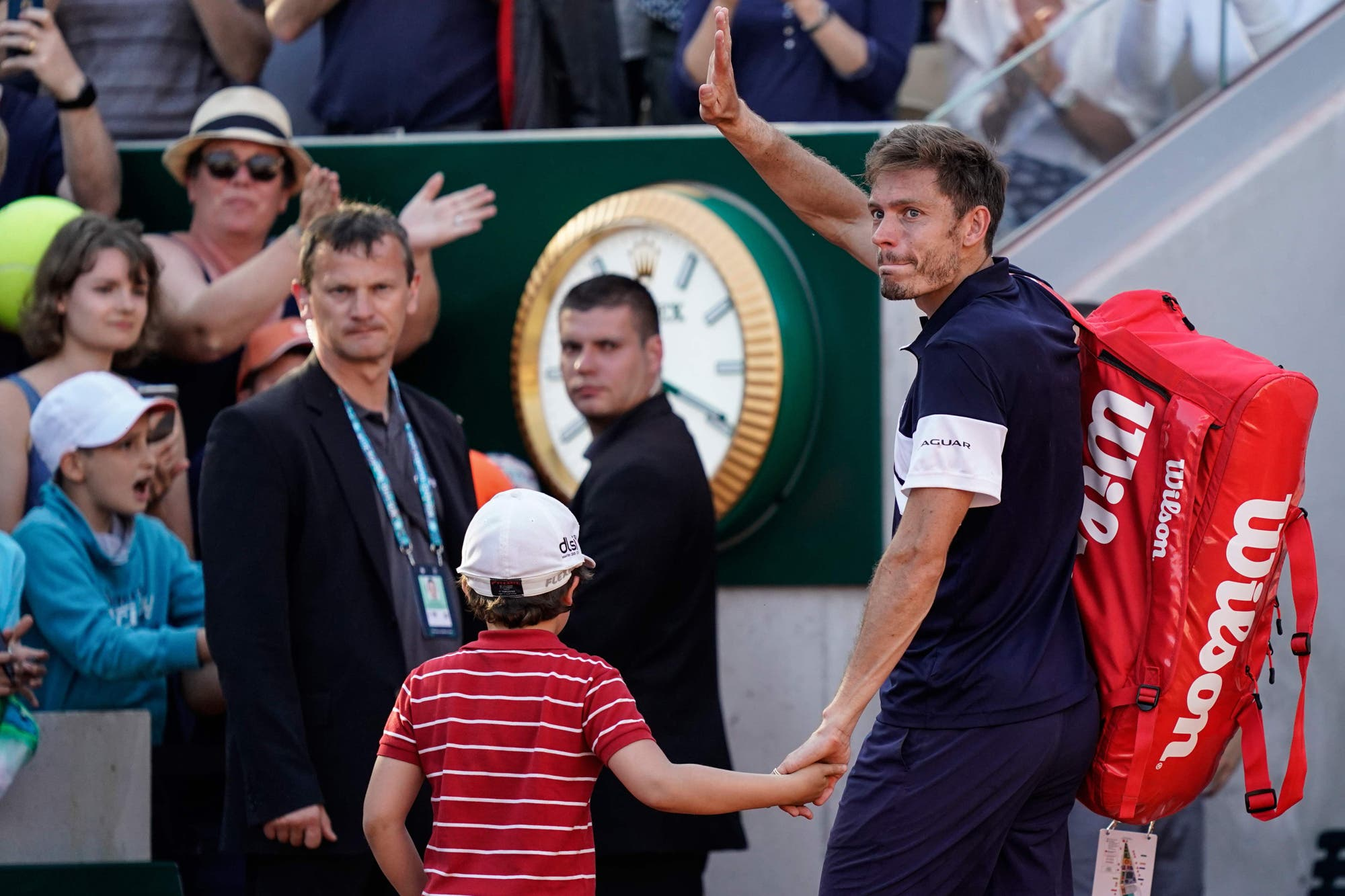 Roland Garros: La emoción de Nicolas Mahut y su hijo en el court, después de su derrota con Leonardo Mayer
