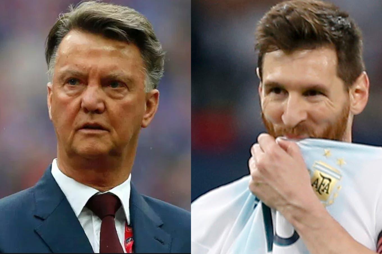 """Van Gaal, duro con Messi: """"¿Cuántas Champions ganó Barcelona con el que dicen que es el mejor del mundo?"""""""