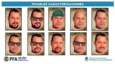 Imágenes que mostraban cómo se suponía que podía verse Romero en el momento en que estaba prófugo
