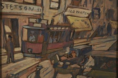 Calle con tranvía (1923)