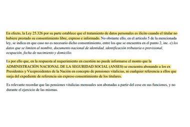 Durante la gestión de Fernanda Raverta, la Anses se negó a entregar la información al alegar que los montos recibidos con dinero público son datos personales