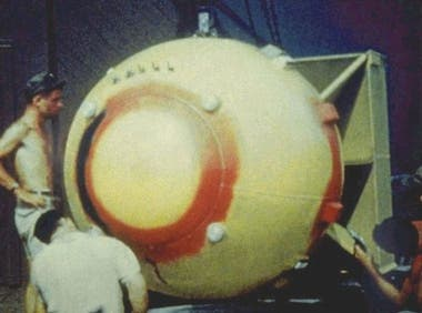 """""""Fat Man"""", la bomba originalmente destinada para Kokura, tenía el poder de 22.000 toneladas de TNT"""