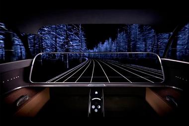 Para brindar una visión más panorámicas, el tablero del Moeye de Kyocera se hace transparente