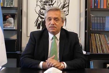 Alberto Fernández, al anunciar el envío del proyecto al Congreso