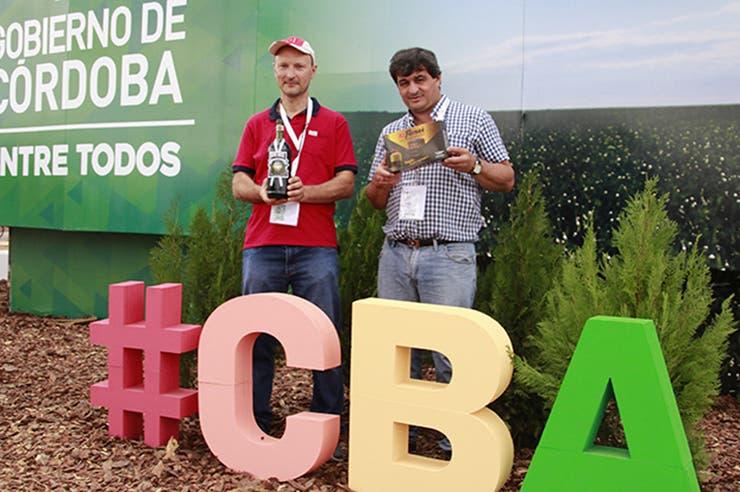 """Los creadores se conocieron en una exposición del programa """"Córdoba Vidriera Productiva"""" y están contentos por la gran recepción que están notando en Expoagro. Foto: Gobierno de Córdoba"""