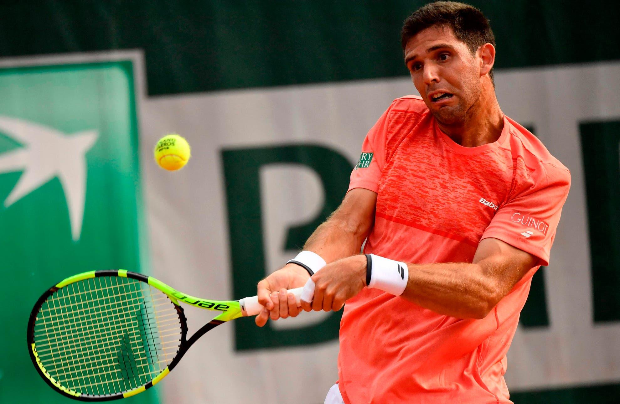 Federico Delbonis juega ante Fabio Fognini en los cuartos de final del ATP 250 de Bastad