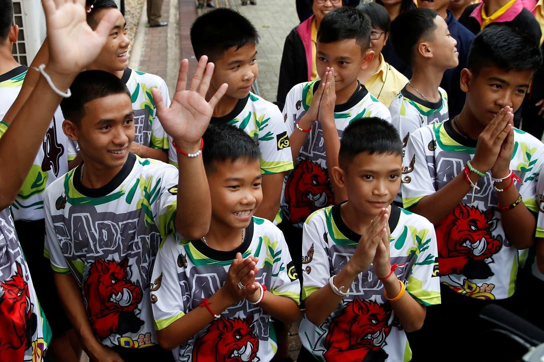 Los niños de la cueva tailandesa, estrellas en Buenos Aires ¿y futuros hinchas de River?