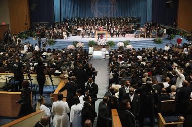 La ceremonia de despedida se celebró en el templo donde también fue velado el padre de la cantante