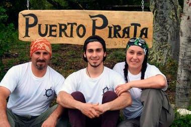 Sergio, Lucas y Diana de Puerto Pirata