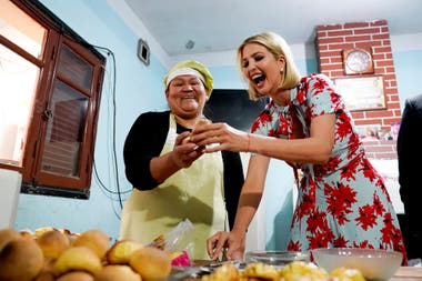 Ivanka Trump visitó a una panadera en Palpalá
