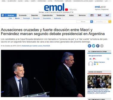 El diario chileno destacó los cruces que se dieron entre los principales candidatos