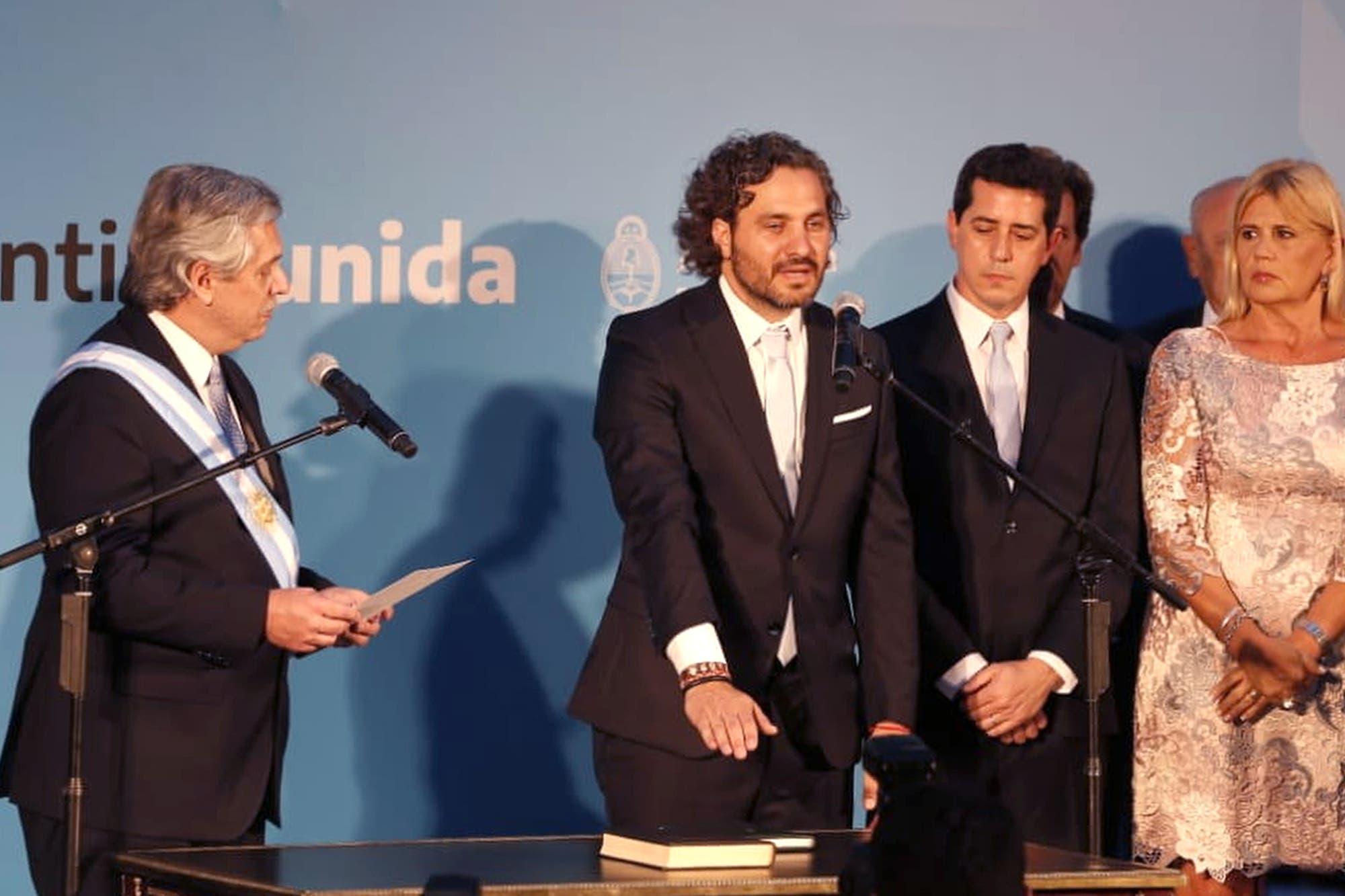 Parrilli, Cristóbal López y Aníbal F.: Lo que no se vio de la jura de ministros