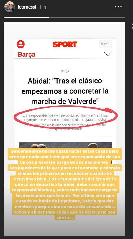 Tensión en Barcelona: Messi estalló contra el director deportivo